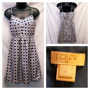 J Crew Sleeveless Knee Length Sun Dress size 2